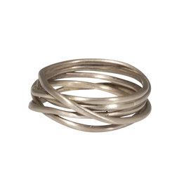 Nest Ring in 18k White Gold