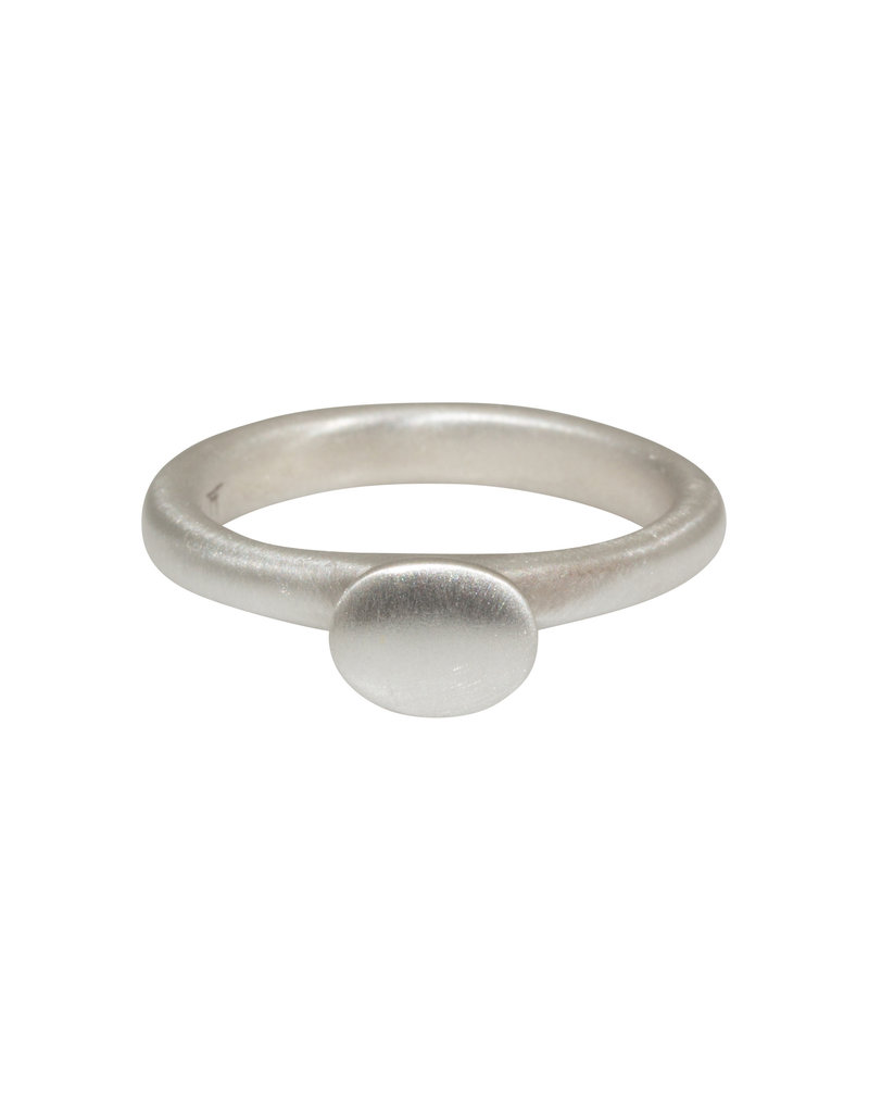 Button Ring in Silver