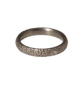 Kirk Lang Lunar Ring 3mm Width in Silver Titanium
