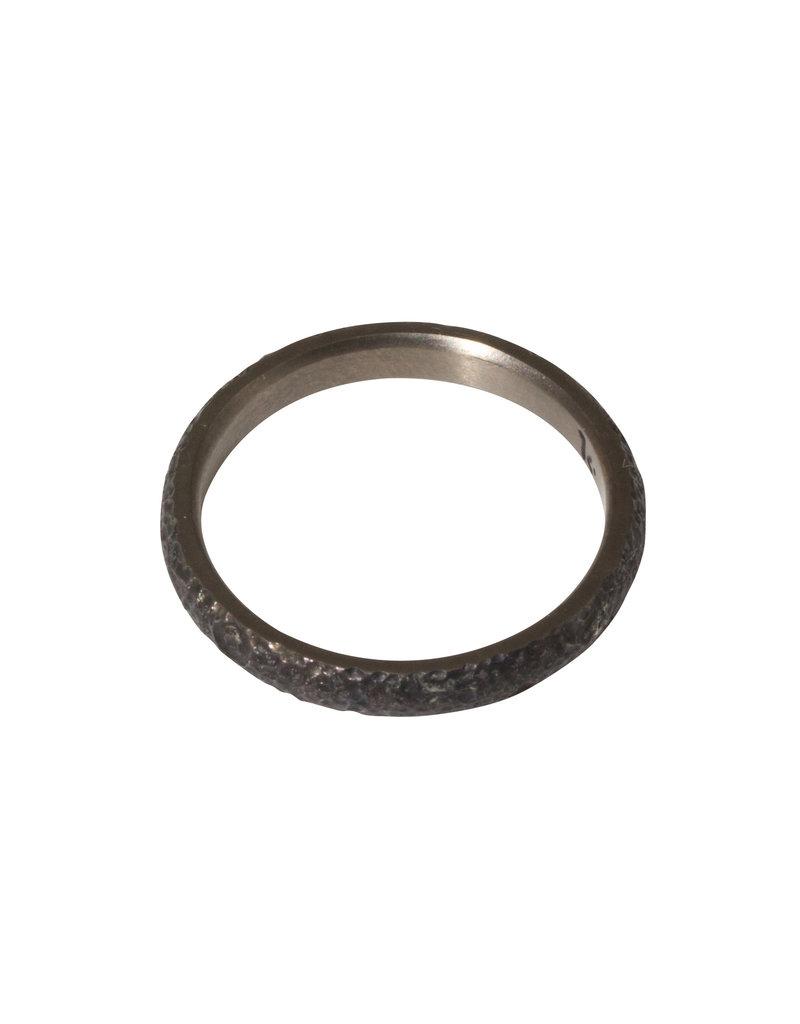 Kirk Lang Lunar Ring 3mm Width in Dark Titanium