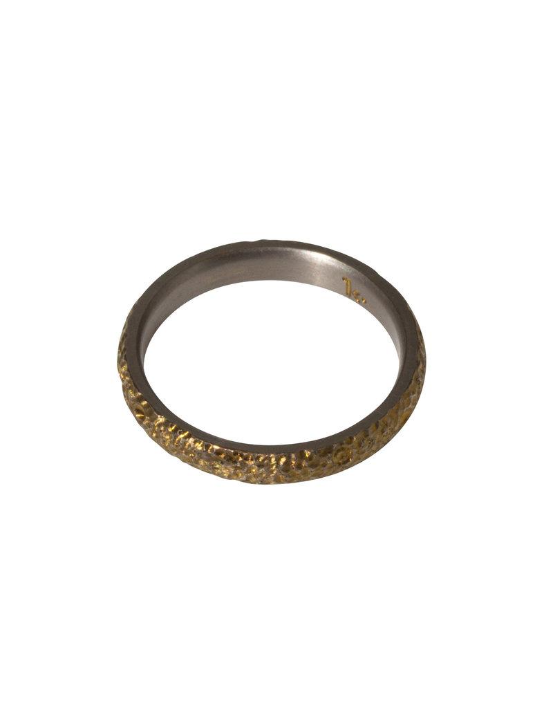 Kirk Lang Lunar Ring 3mm Width in Gold Titanium