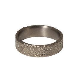 Kirk Lang Lunar Ring 6mm Width in Silver Titanium