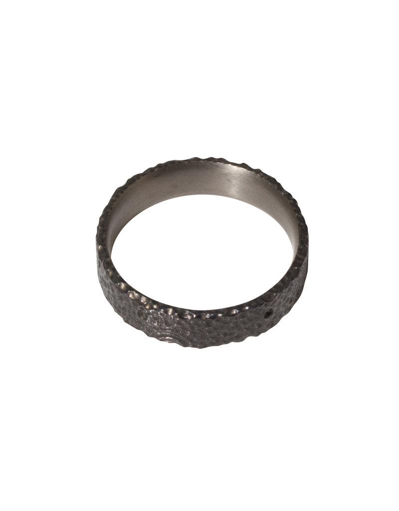 Kirk Lang Lunar Ring 6mm Width in Dark Titanium