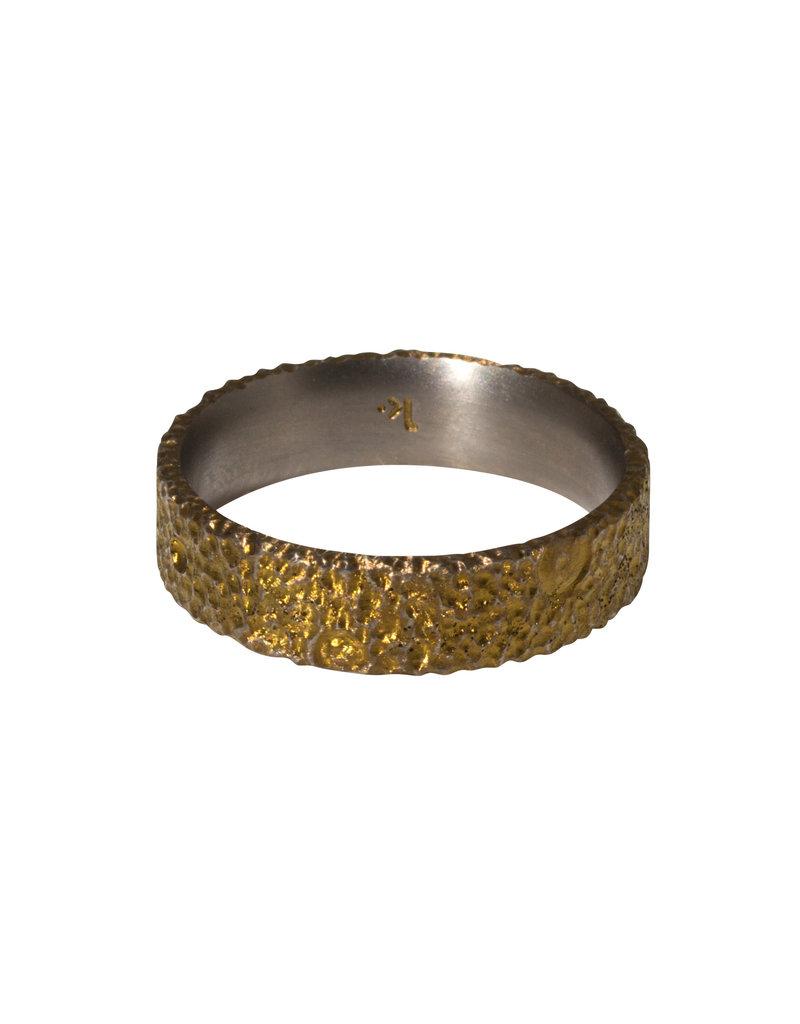Kirk Lang Lunar Ring 6mm Width in Gold Titanium