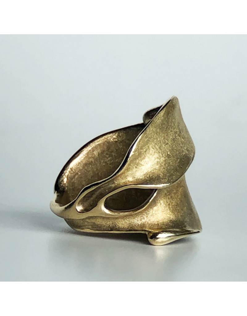 Leaves Ring in Yellow Bronze
