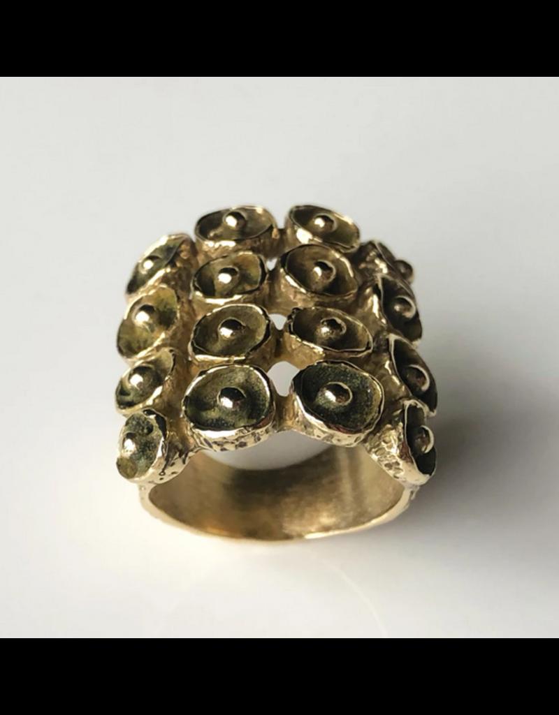 Mosaic Ring in Yellow Bronze