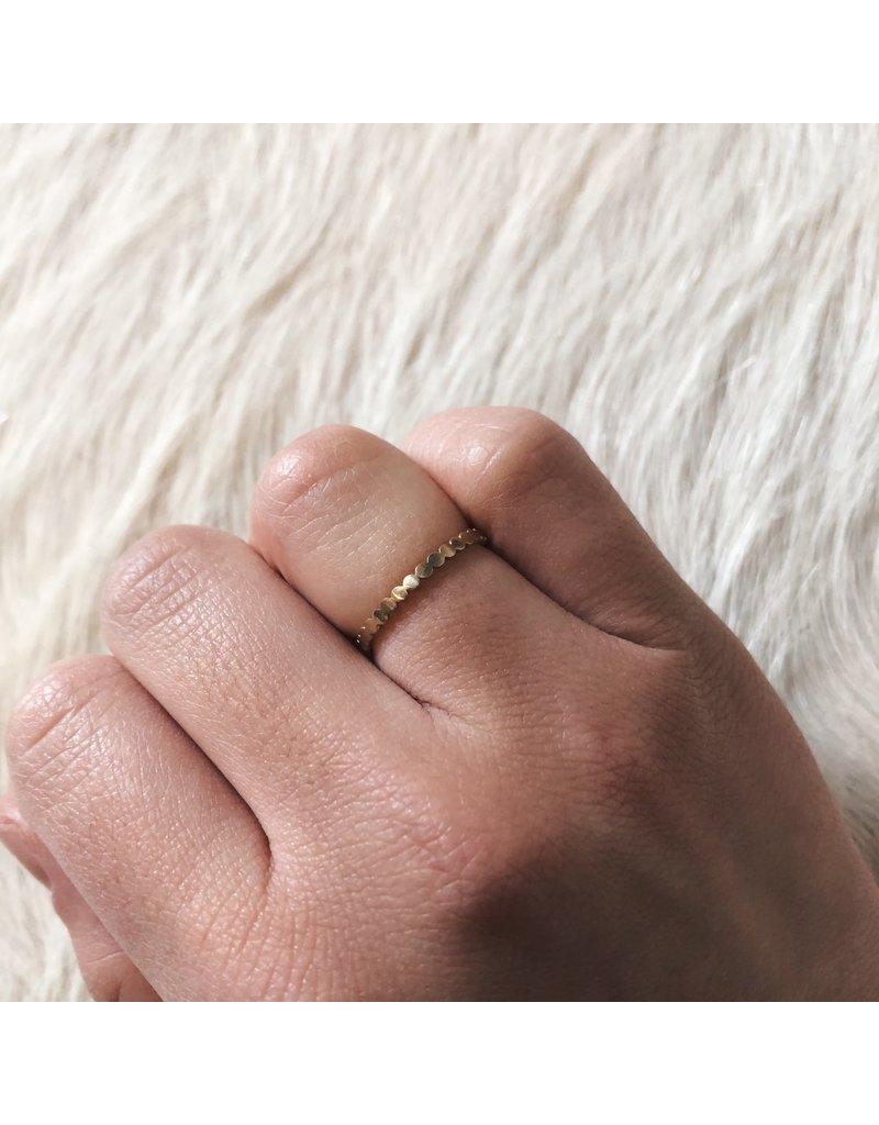 18k White Gold Dot Band