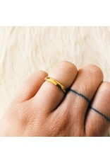 Narrow Vault Ring in 18k Yellow Gold