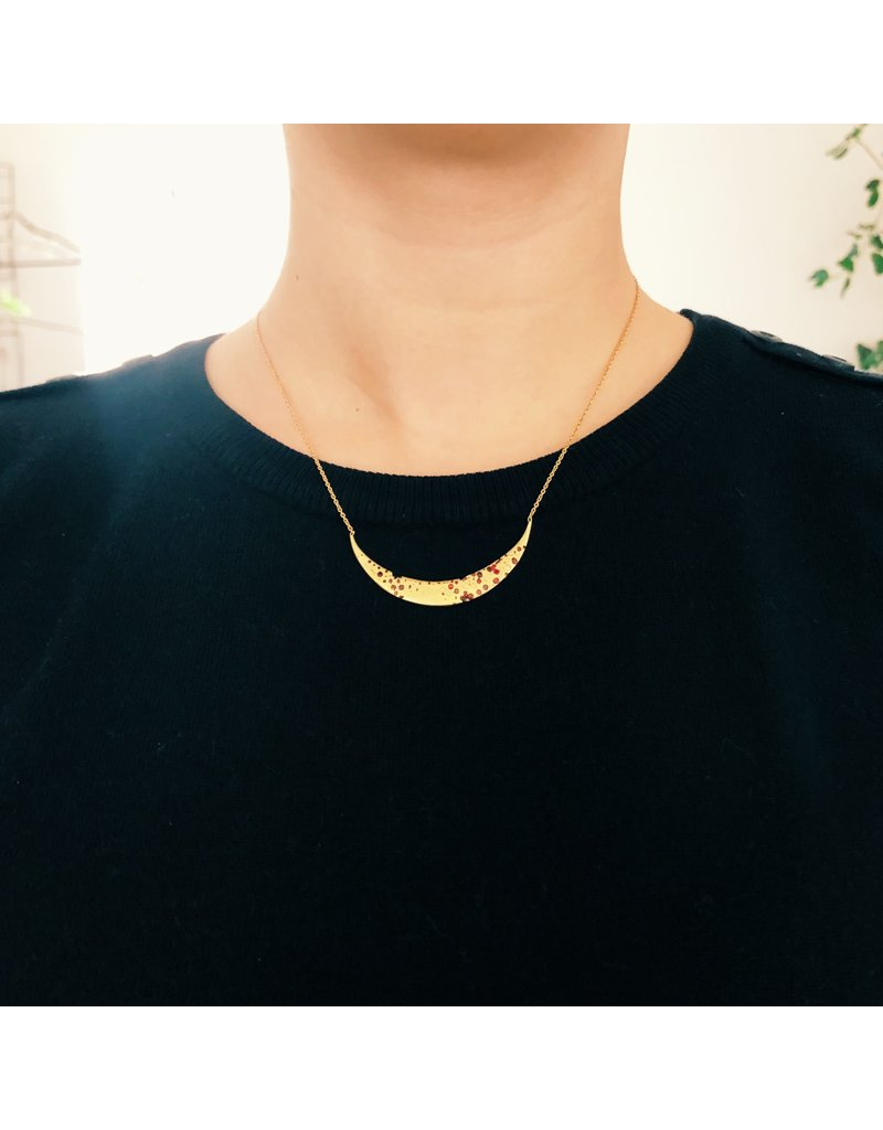 Eclipse Necklace with Rubies in 18k Yellow Gold
