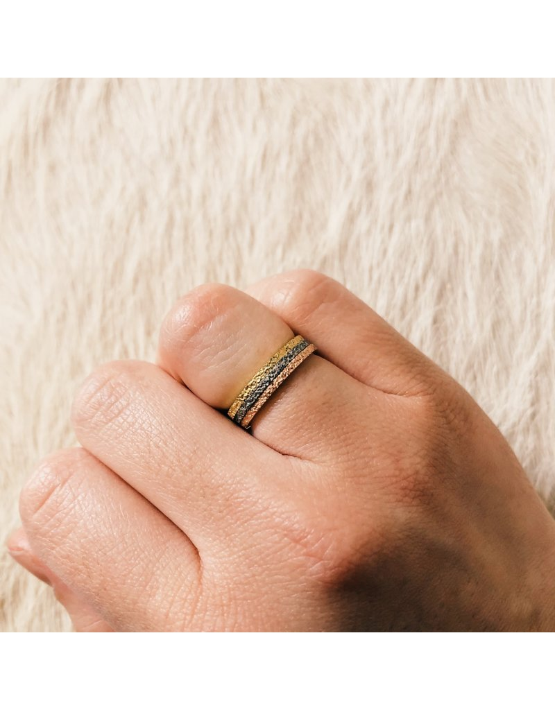 Slim Sand Band in 18k Yellow Gold