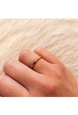 Rogue River Stacking Ring in 18k Rose Gold
