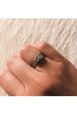 Ni Tsuki Two Diamond Ring in 14k White Gold