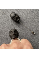 Janus Double Face Ring in Ebony and Silver