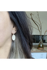 Small Perforated Oval Earrings in Silver