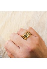 2.5mm Modeled Band in 18k Rose Yellow Gold