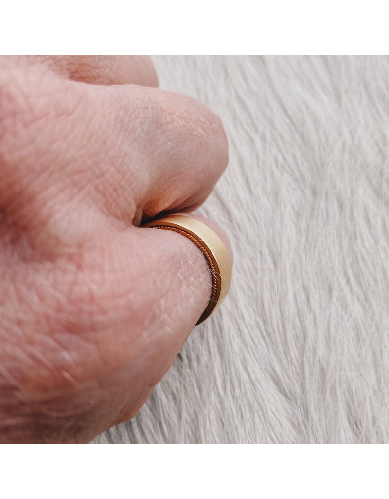 Filigree Ring in 18k & 24k Yellow Gold