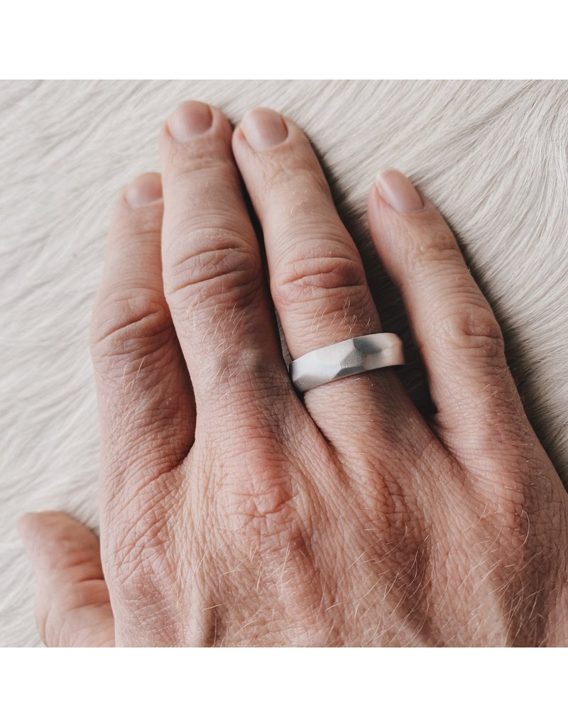 Wide Vault Ring in Silver