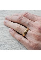6mm Rough Band in 18k Rose Yellow Gold