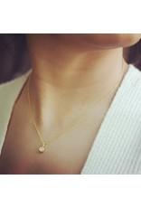 Small Brilliant Diamond Pendant in 18k Yellow Gold