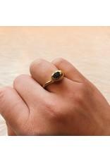 Raw Diamond Ring in Brass