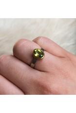 Sam Woehrmann Oval Peridot Ring in Silver & 22k Gold