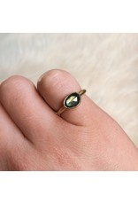Organic Green Sapphire Ring in 18k Yellow Gold