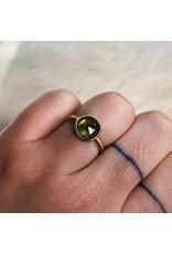 Organic Green Tourmaline Ring in 18k Yellow Gold
