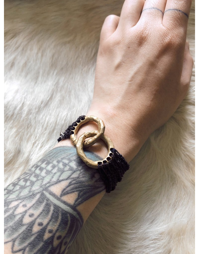 The Buxom Bracelet in Stainless Steel & Brass