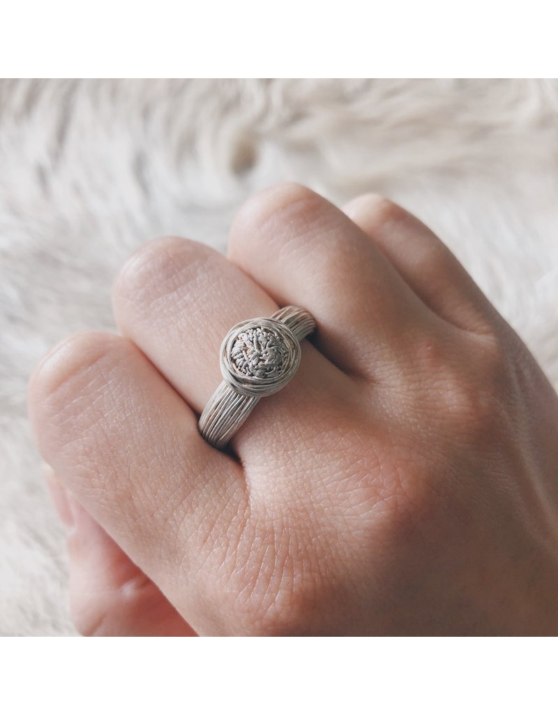 Top Knot Ring in Fine Silver
