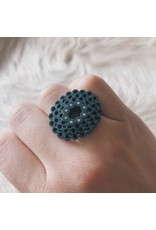 Oval and Diamond Ring