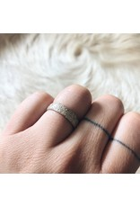 Hammered Sand Band in Silver