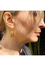 Teardrop Rose Cut Sapphire Earrings in 22k Gold