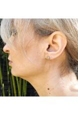 Mini Topography Post Earrings in Silver