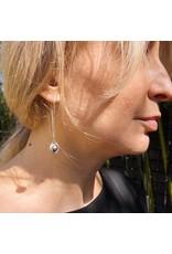 Ball Bearing Drop Earrings in Silver