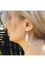 Flat Faceted Earrings in Silver