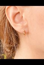 Single Hex Hoop Earrings in 18k Yellow Gold
