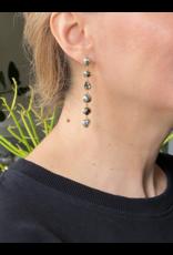 Six Keshi Pearl Post Drop Earrings