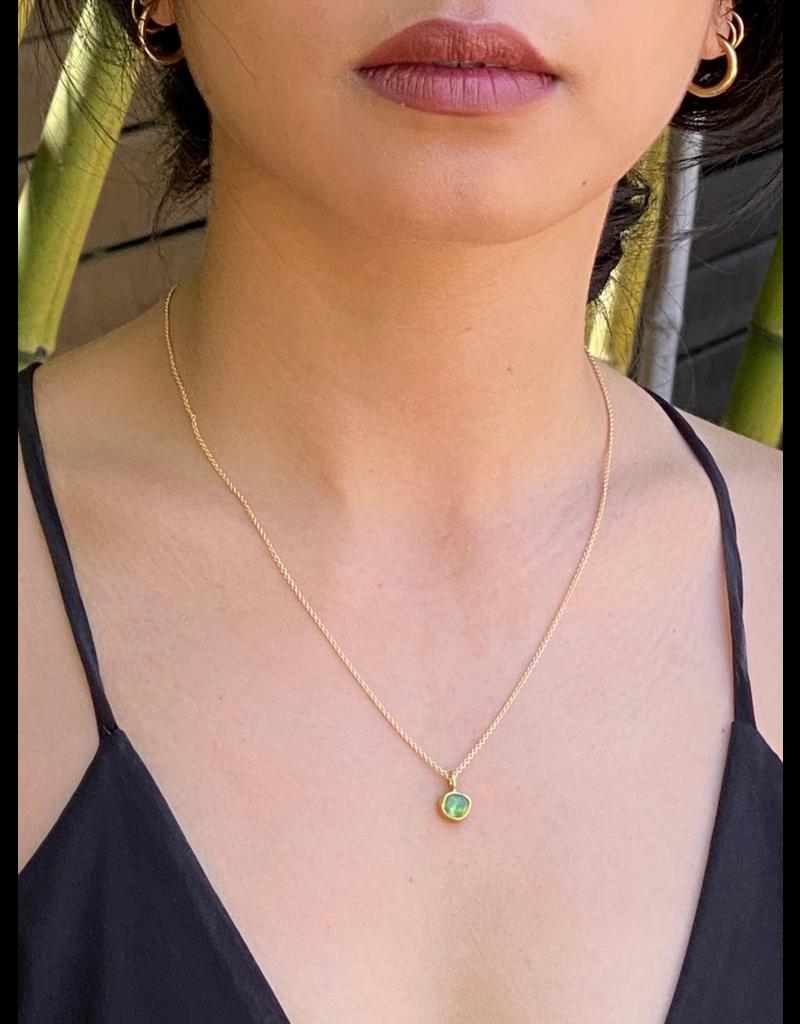 Tsavorite Garnet Pendant in 22k Gold