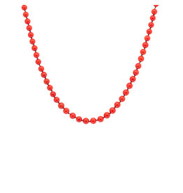 Coral Bead Necklace with 18k Yellow Gold Toggle Clasp