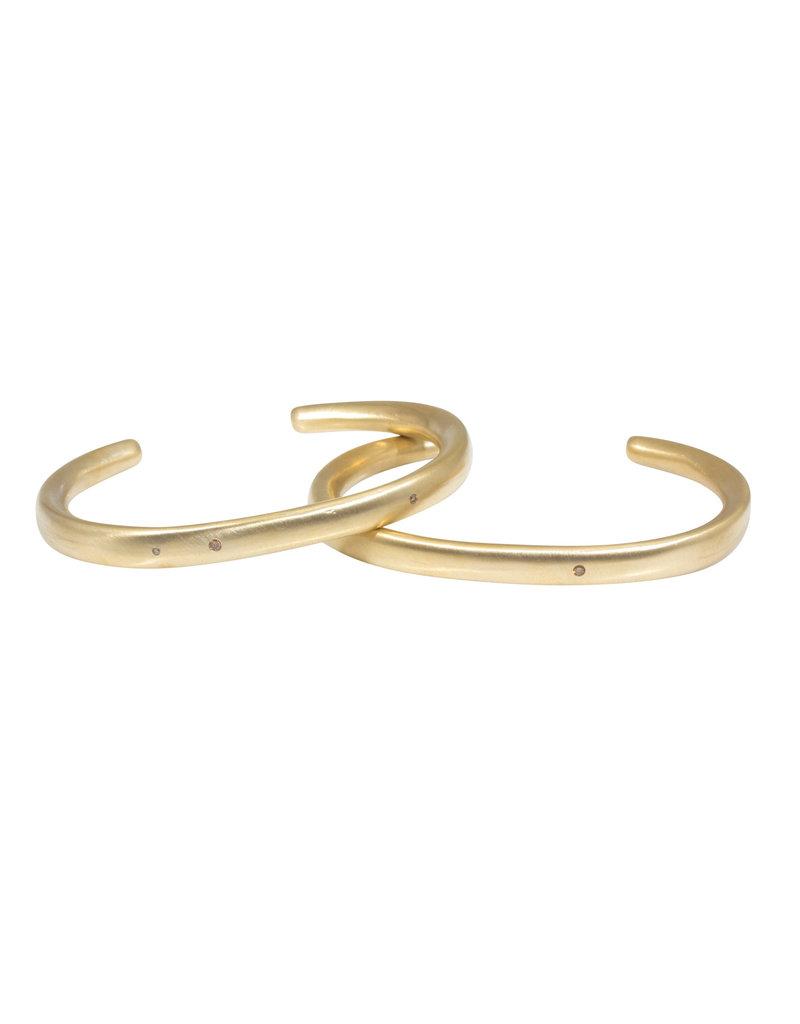 Plain Cuff with Cognac Diamonds in Golden Bronze