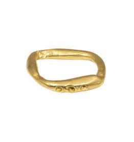 Dot Dot Dot Ring in Brass