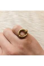 Open Ring in Brass