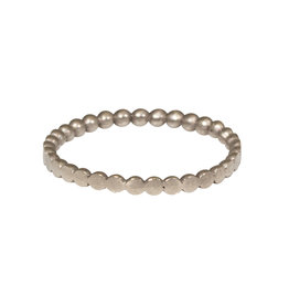 Dot Band in 14k White Gold