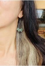 Jade Earrings in Oxidized Silver