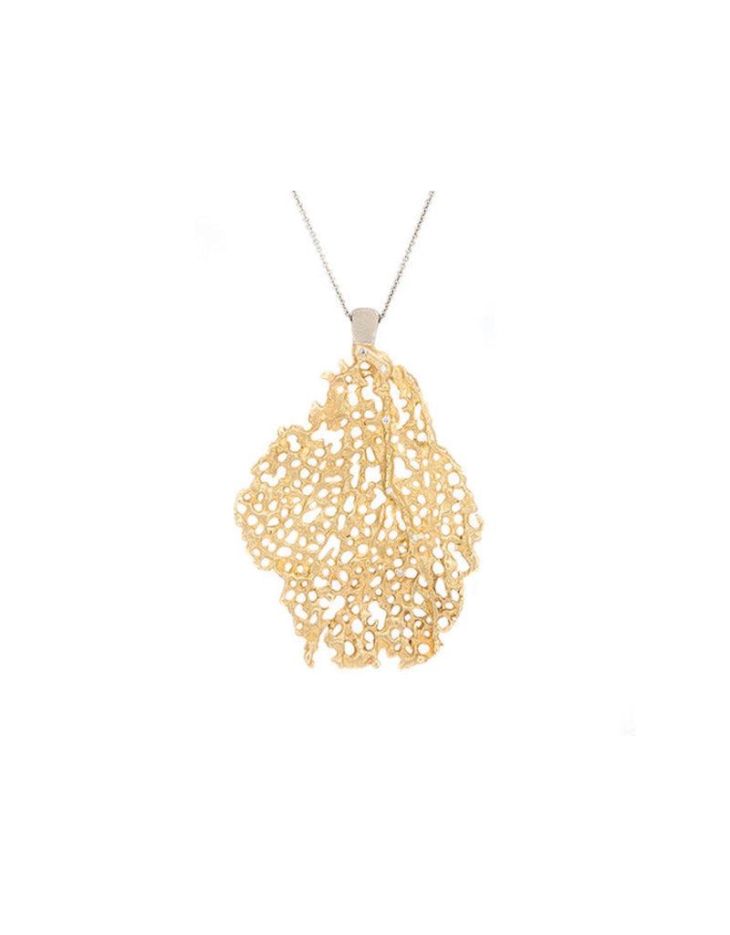 Koraru Bronze & White Gold Pendant (Large Coral)