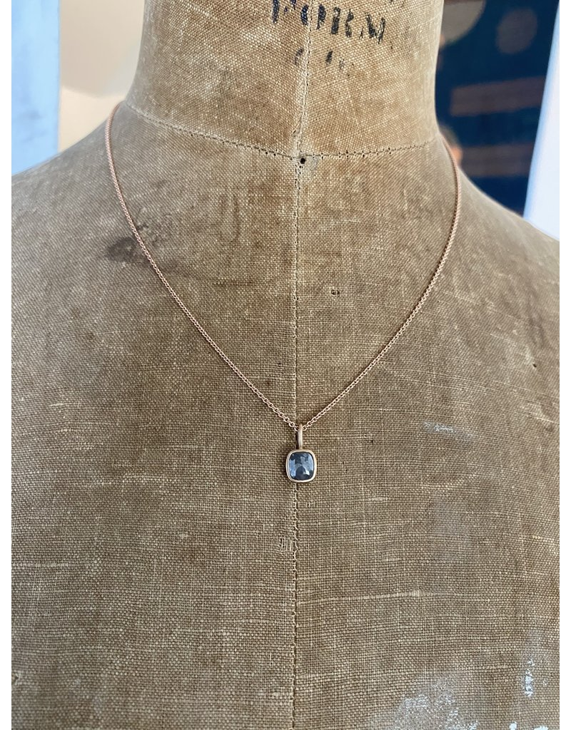 Private Consigner Grey Diamond Pendant in 14k Rose Gold