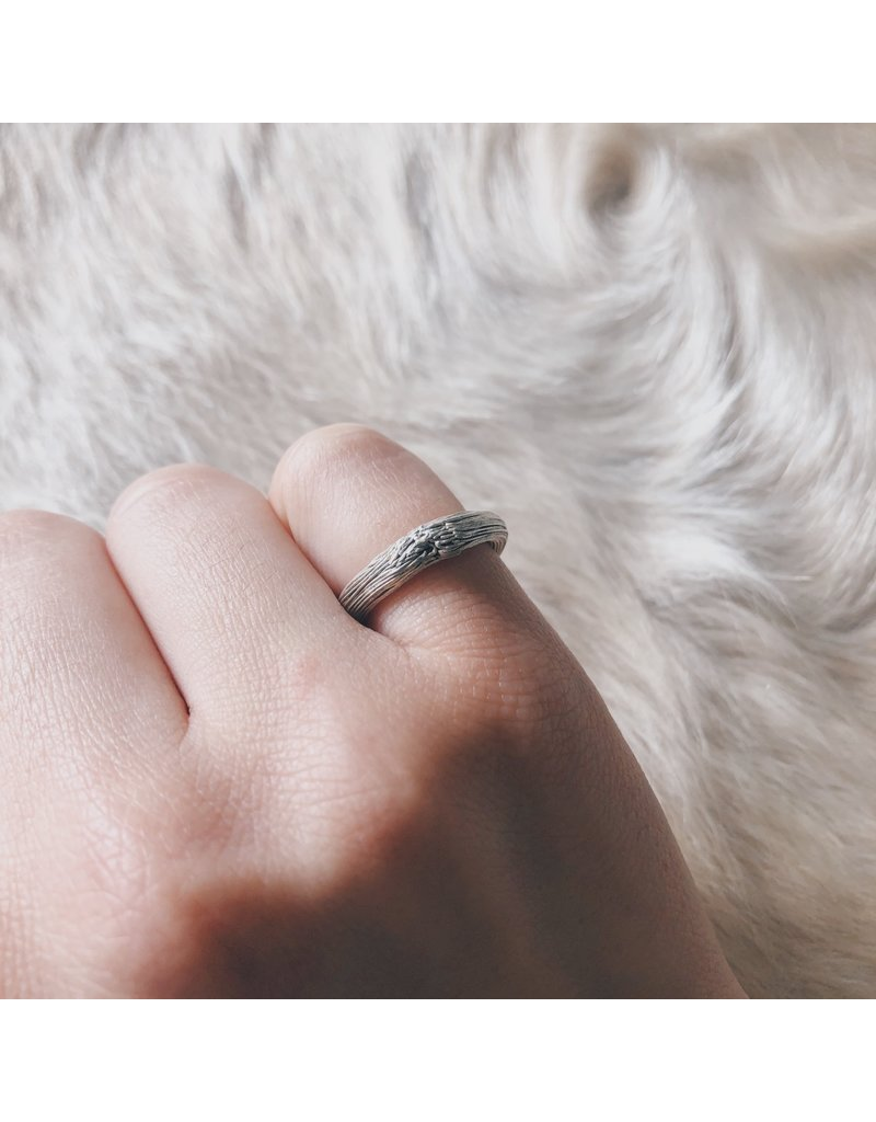 Thin Knot Ring in Fine Silver