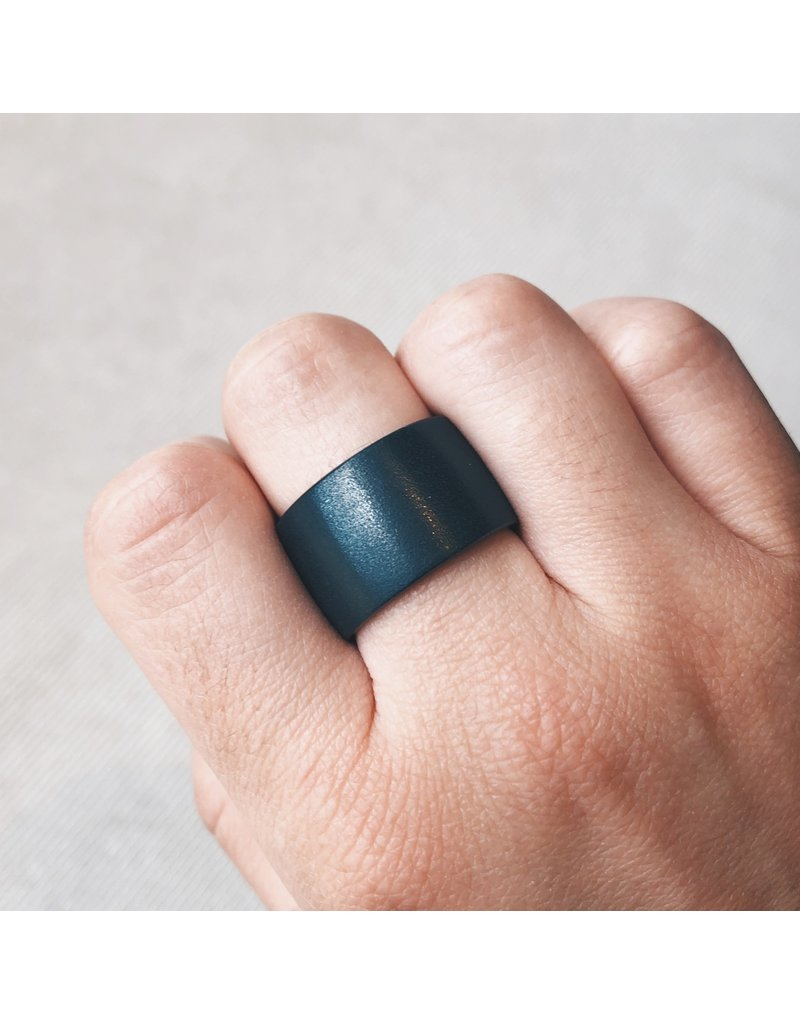 Black Zirconia 14mm Ceramic Half Dome Ring