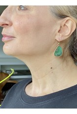 Emerald Slice Earrings in 22k and 18k with Black Diamond