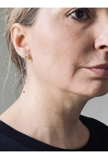 Medium Topography Post Earrings in Yellow Bronze
